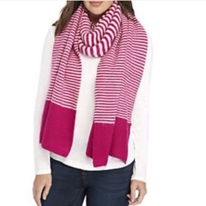 Crown & Ivy Scarf NWT Oversized Pink White Striped